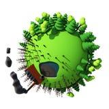 Bande dessinée 3D de planète Photo stock