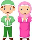Bande dessinée d'enfant de musulmans illustration libre de droits
