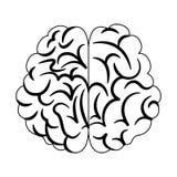 Bande dessinée d'esprit humain en noir et blanc Images stock