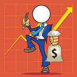 Bande dessinée d'homme d'affaires Photographie stock libre de droits
