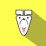Bande dessinée d'icône de chien sur le fond jaune Illustration Libre de Droits