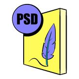 Bande dessinée d'icône de dossier de PSD Photo stock