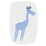 Bande dessinée d'illustration de cerfs communs Photo stock