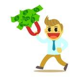 Bande dessinée d'Officeman et aimant d'argent Image libre de droits
