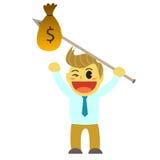 Bande dessinée d'Officeman et lance d'argent Photo libre de droits