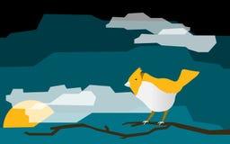 Bande dessinée d'oiseau avec la boîte à textes Photos stock