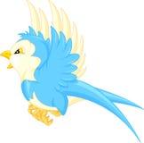 Bande dessinée d'oiseau de vol illustration de vecteur