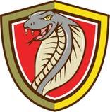 Bande dessinée de attaque principale de bouclier de serpent de vipère de cobra Photos stock