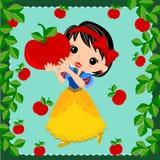 Bande dessinée de blanc de princesse Snow Images libres de droits