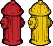 Bande dessinée de bouche d'incendie illustration libre de droits
