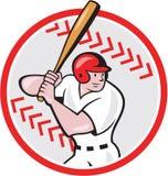Bande dessinée de boule d'ouate en feuille de joueur de baseball Image libre de droits