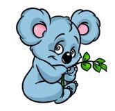 Bande dessinée de branche d'eucalyptus de koala Image libre de droits