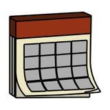 Bande dessinée de calendrier de mois illustration stock