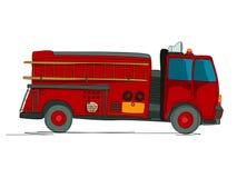 Bande dessinée de camion de pompiers Images libres de droits