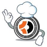 Bande dessinée de caractère de Bitcoin Dark de chef Image libre de droits