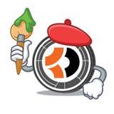 Bande dessinée de caractère de Bitcoin Dark d'artiste Photos stock