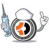 Bande dessinée de caractère de Bitcoin Dark d'infirmière Photos stock