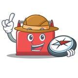 Bande dessinée de caractère de boîte à outils d'explorateur illustration libre de droits