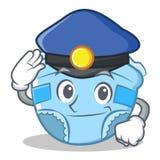 Bande dessinée de caractère de couche-culotte de bébé de police Images libres de droits