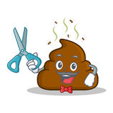Bande dessinée de caractère d'émoticône de Barber Poop Photographie stock libre de droits