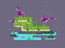 Bande dessinée de caractère de crocodile Images libres de droits