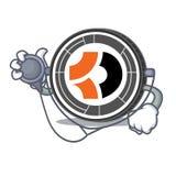 Bande dessinée de caractère de docteur Bitcoin Dark Photographie stock libre de droits