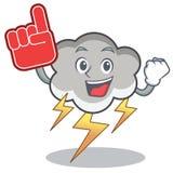 Bande dessinée de caractère de nuage de tonnerre de doigt de mousse Photos libres de droits