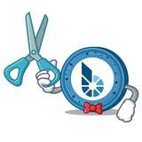 Bande dessinée de caractère de pièce de monnaie de Barber BitShares Image stock