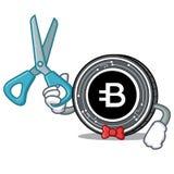 Bande dessinée de caractère de pièce de monnaie de Barber Bytecoin Photos stock
