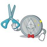 Bande dessinée de caractère de pièce de monnaie de Barber Ethereum Photos stock