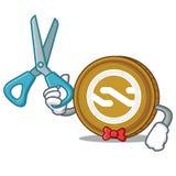 Bande dessinée de caractère de pièce de monnaie de Barber Nxt Photos stock