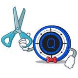 Bande dessinée de caractère de pièce de monnaie de Barber Qash Image stock
