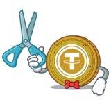 Bande dessinée de caractère de pièce de monnaie de Barber Tether Images libres de droits