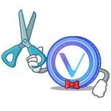 Bande dessinée de caractère de pièce de monnaie de Barber VeChain Photo libre de droits