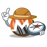 Bande dessinée de caractère de pièce de monnaie de Monero d'explorateur illustration stock