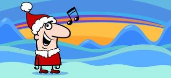 Bande dessinée de carte de voeux de Noël illustration libre de droits