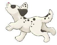 Bande dessinée de chien courant Images libres de droits