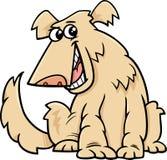 Bande dessinée de chien hirsute illustration libre de droits