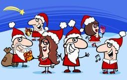 Bande dessinée de clauses de Santa de Noël Photographie stock libre de droits