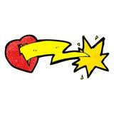 bande dessinée de coeur frappée par amour Images stock