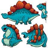 Bande dessinée de dinosaure Images libres de droits