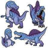 Bande dessinée de dinosaure illustration de vecteur