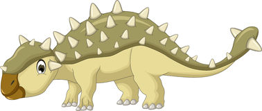 Bande dessinée de dinosaure d'Ankylosaurus Images libres de droits