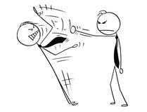 Bande dessinée de discours du ` s d'Ending Another Man d'homme d'affaires en le poinçonnant Illustration Libre de Droits