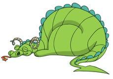 Bande dessinée de dragon Images stock