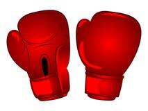 Bande dessinée de gants de boxe de vecteur image libre de droits