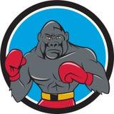 Bande dessinée de Gorilla Boxer Boxing Stance Circle illustration libre de droits