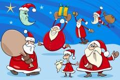 Bande dessinée de groupe de clauses de Santa Photo libre de droits