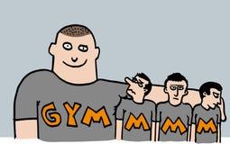 Bande dessinée de gymnase illustration stock