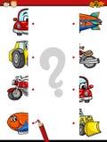 Bande dessinée de jeu d'assortiment d'éducation illustration de vecteur
